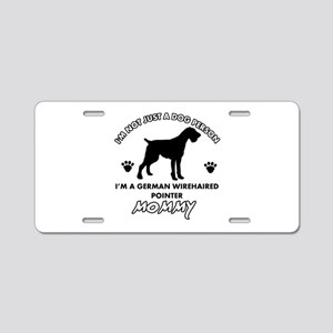German Wirehaired Pointer dog breed designs Alumin